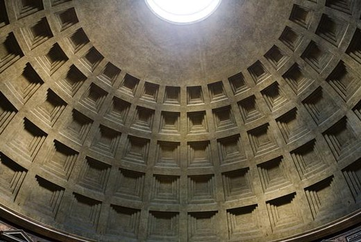 Italy, Rome, dome of Pantheon, low angle view : Stock Photo