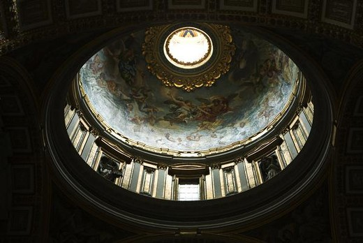 Minor cupola in ceiling of St. Peter's Basilica, Rome, Italy : Stock Photo