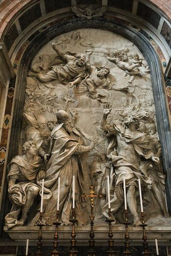 Stock Photo: 4276-4194 Altar of St. Leo the Great, St. Peter's Basilica, Rome, Italy