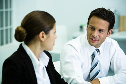 Stock Photo: 4276-4502 Business professionals chatting