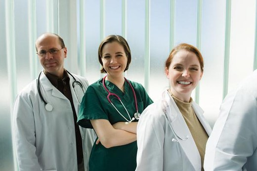 Stock Photo: 4276-4641 Healthcare professionals, portrait