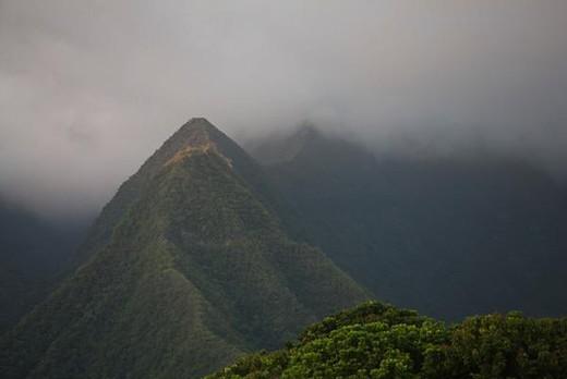Stock Photo: 4276-5092 Cirque de Cilaos caldera, Reunion Island (French overseas department located in the Indian Ocean)