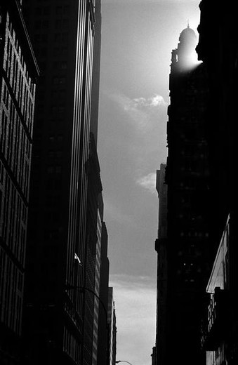Stock Photo: 4276-6724 Skyscrapers, b&w