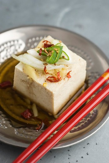 Tofu with ginger : Stock Photo