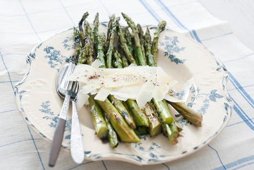 Asparagus with Parmesan : Stock Photo