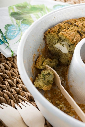 Ricotta and herb quickbread : Stock Photo