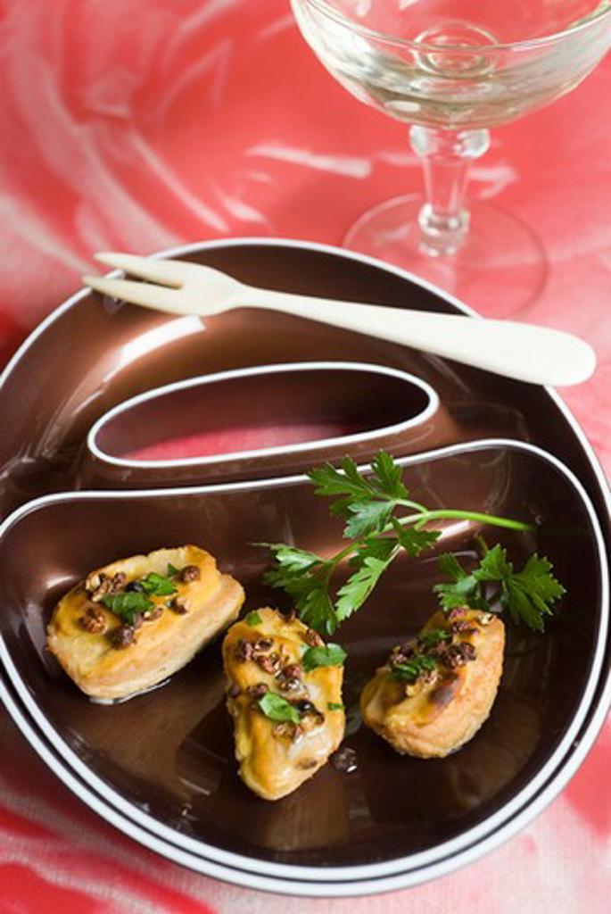 Stock Photo: 4277-1426 Rognon blanc with mustard