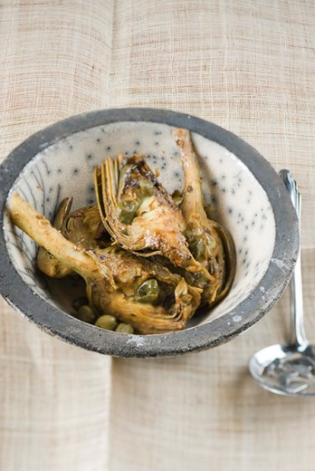Stock Photo: 4277-1472 Lemon braised artichokes