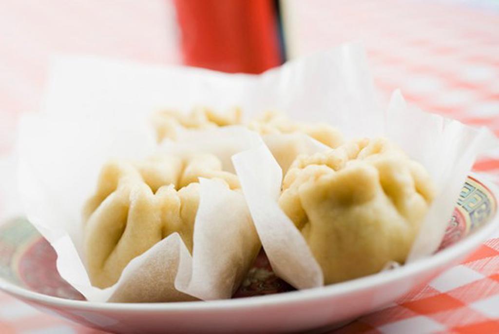 Steamed pork won tons (Baozi) : Stock Photo