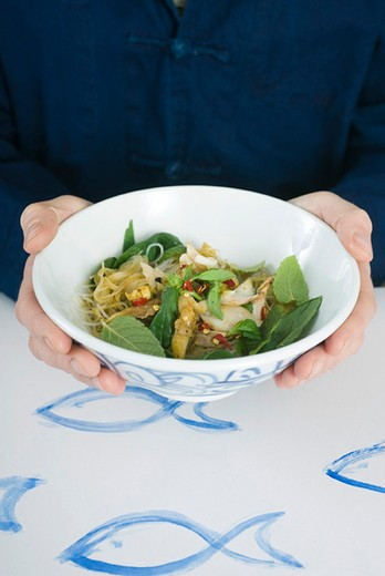 Stock Photo: 4277-1751 Spicy fish salad