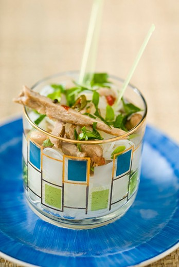 Stock Photo: 4277-2041 Pork salad with herbs