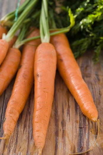Stock Photo: 4277-2665 Fresh carrots