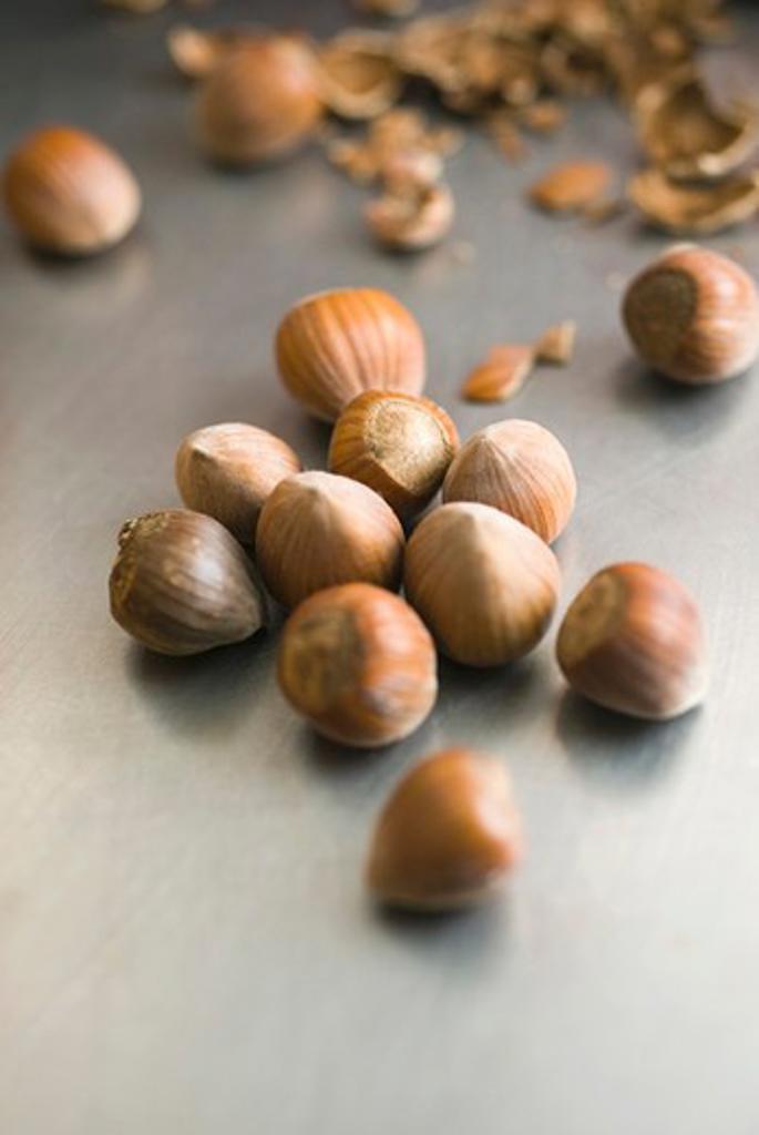 Hazelnuts : Stock Photo
