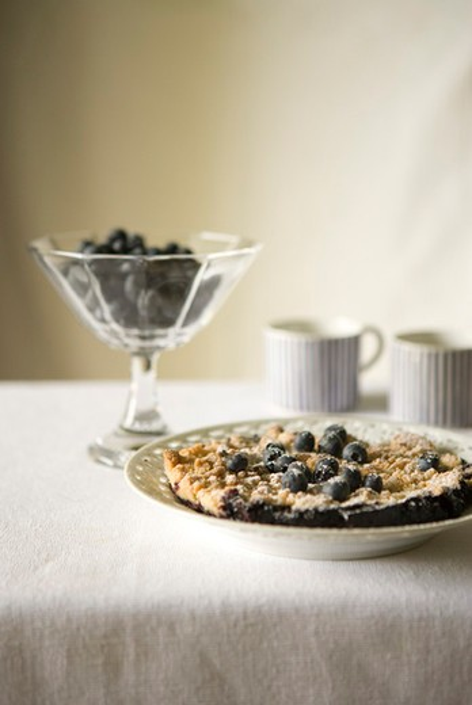 Stock Photo: 4277-2826 Blueberry crumble