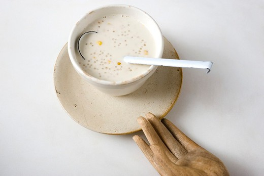 Stock Photo: 4277-2987 Coconut tapioca and sweetcorn soup
