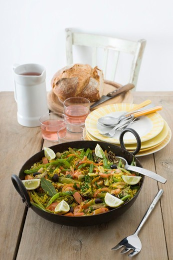 Stock Photo: 4277-3452 Vegetable paella