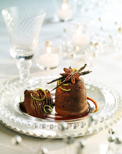 Stock Photo: 4277-3588 Pure chocolate fondant