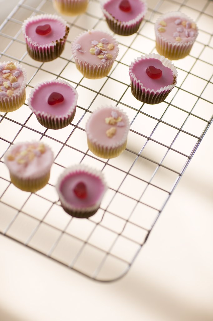 Stock Photo: 4278-2196 Cupcakes on airing tray