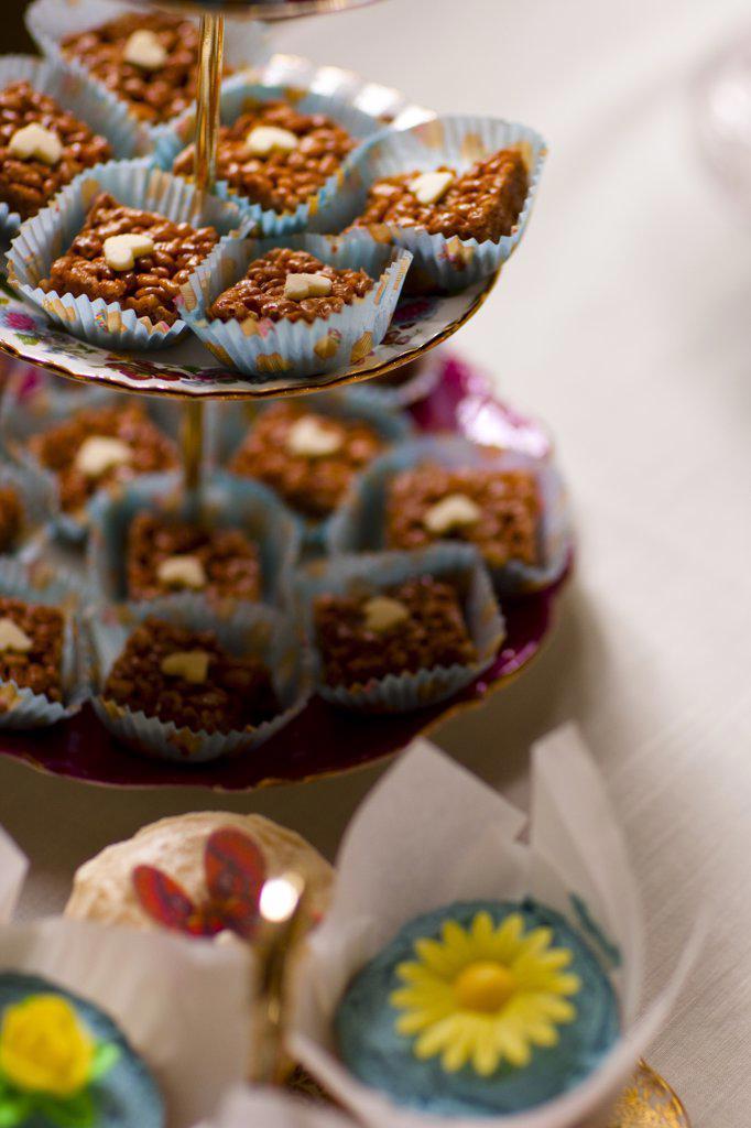 Close up of mini cakes : Stock Photo