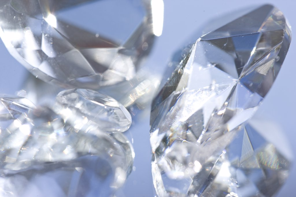 Extreme close up of large diamonds : Stock Photo