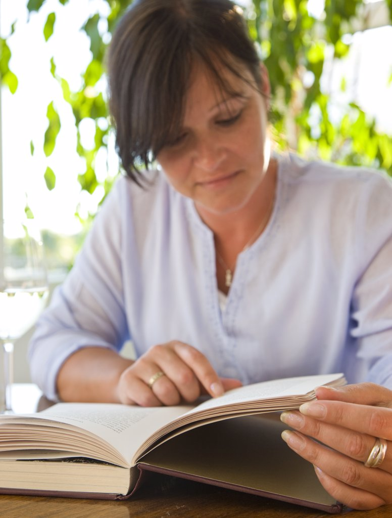 Woman Reading Book : Stock Photo