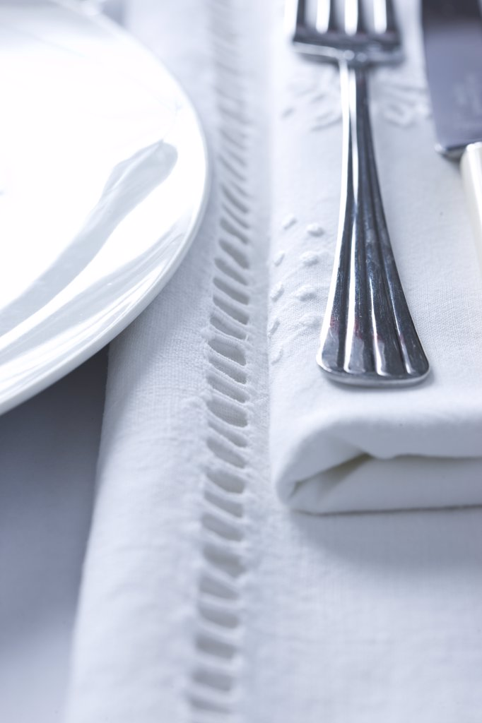 Stock Photo: 4278-7545 Place Setting - Close-up view