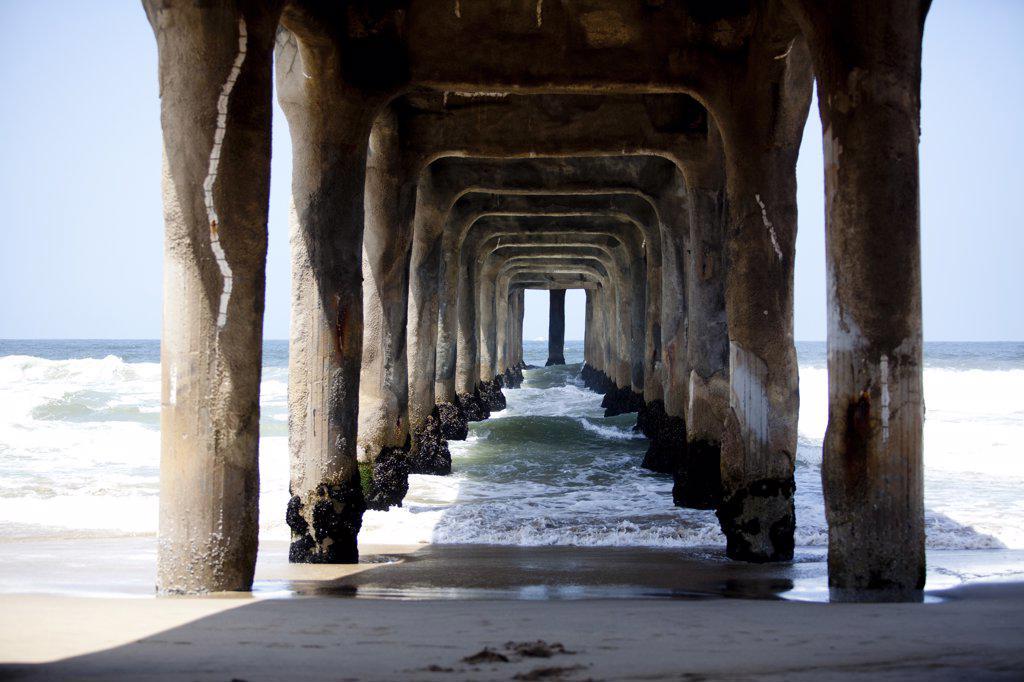 Stock Photo: 4278-8821 Underneath Pier