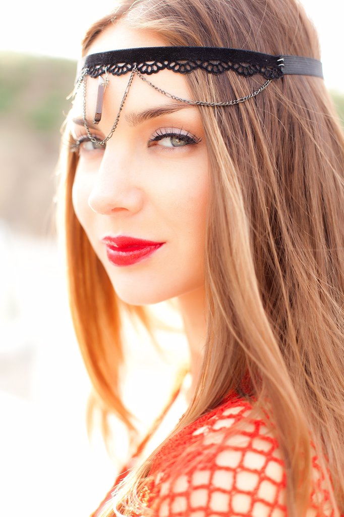 Close up Portrait of Young Woman : Stock Photo