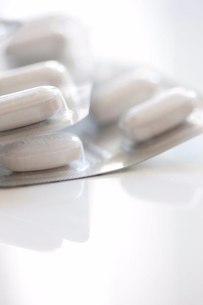 Stock Photo: 4278-9699 Pills in Blister Packs