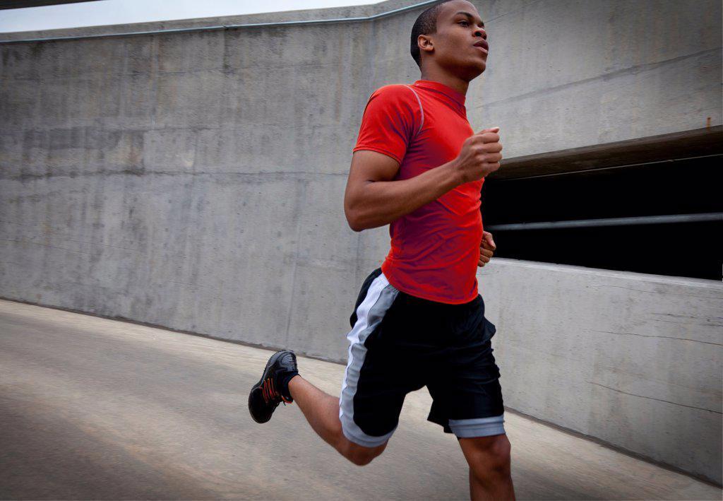 Stock Photo: 4278-9713 Man Running Outdoors
