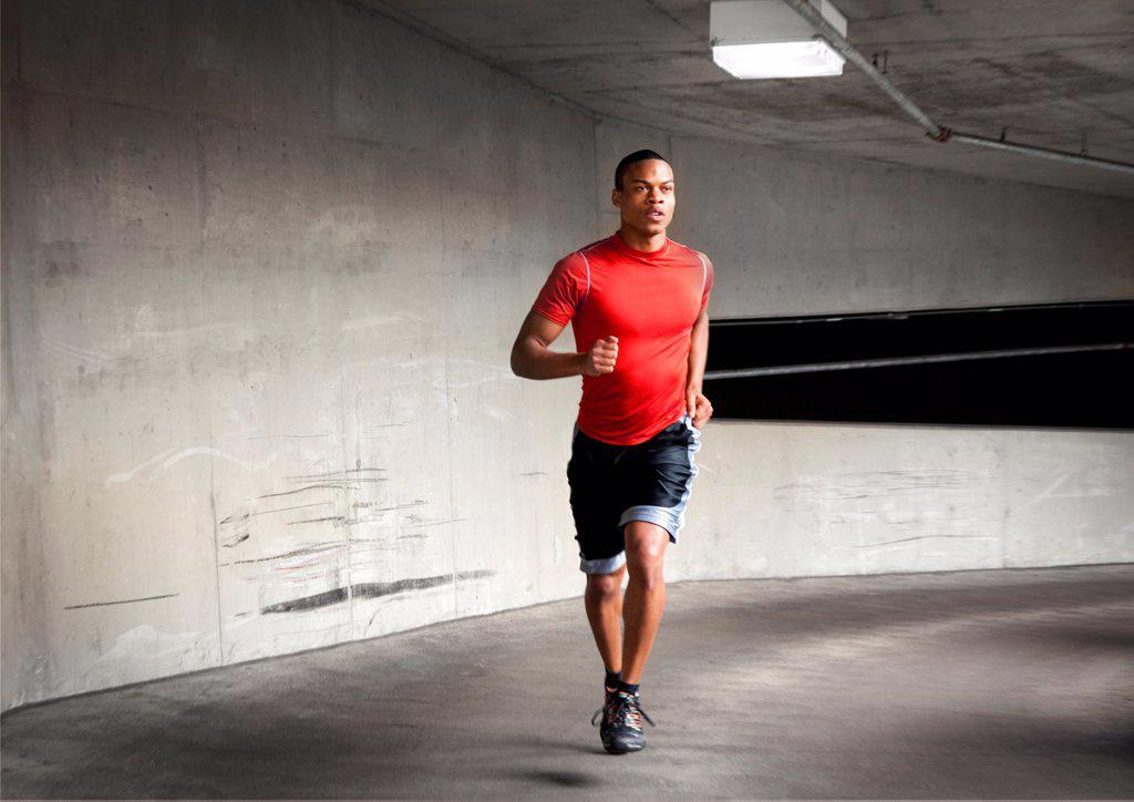 Stock Photo: 4278-9744 Man Running Outdoors