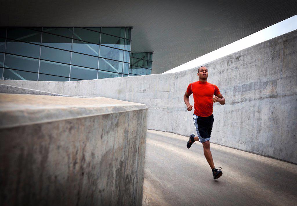 Stock Photo: 4278-9748 Man Running Outdoors