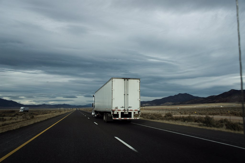 Stock Photo: 4278-9892 Trucks Driving on Motorway