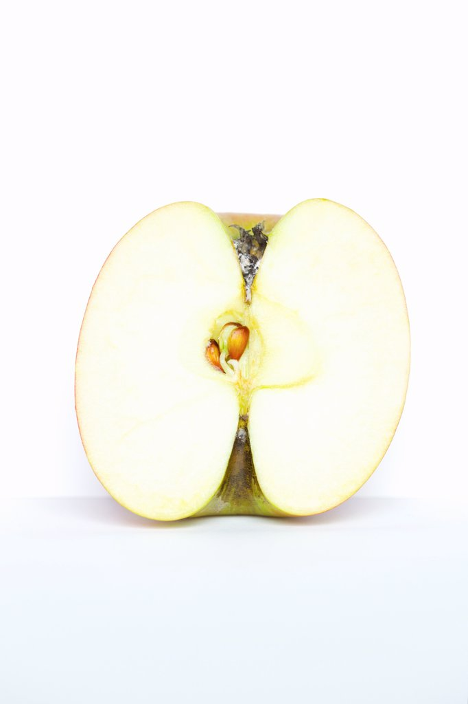 Stock Photo: 4278-9898 Half an Apple