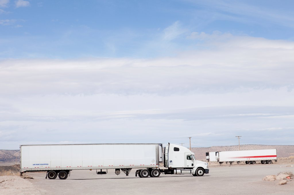 Stock Photo: 4278-9918 Parked Truck