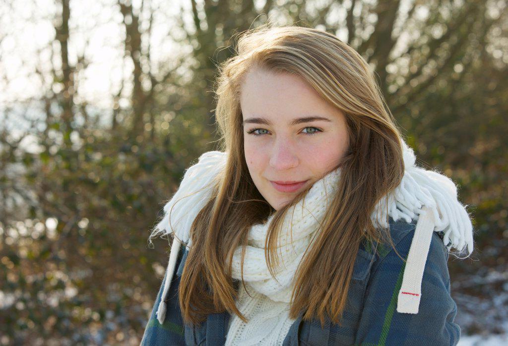 Stock Photo: 4278-9919 Portrait of Teenage Girl Outdoors