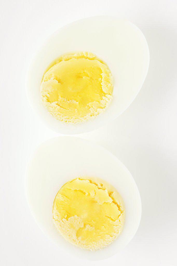Hard Boiled Egg Halves : Stock Photo