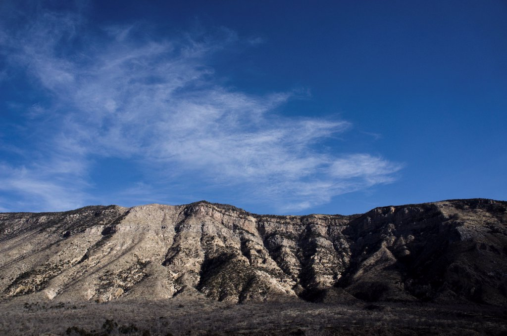 Stock Photo: 4278-9971 Mountain against Blue Sky