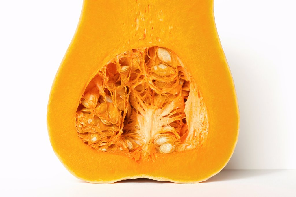 Stock Photo: 4278-9978 Half a Butternut Squash