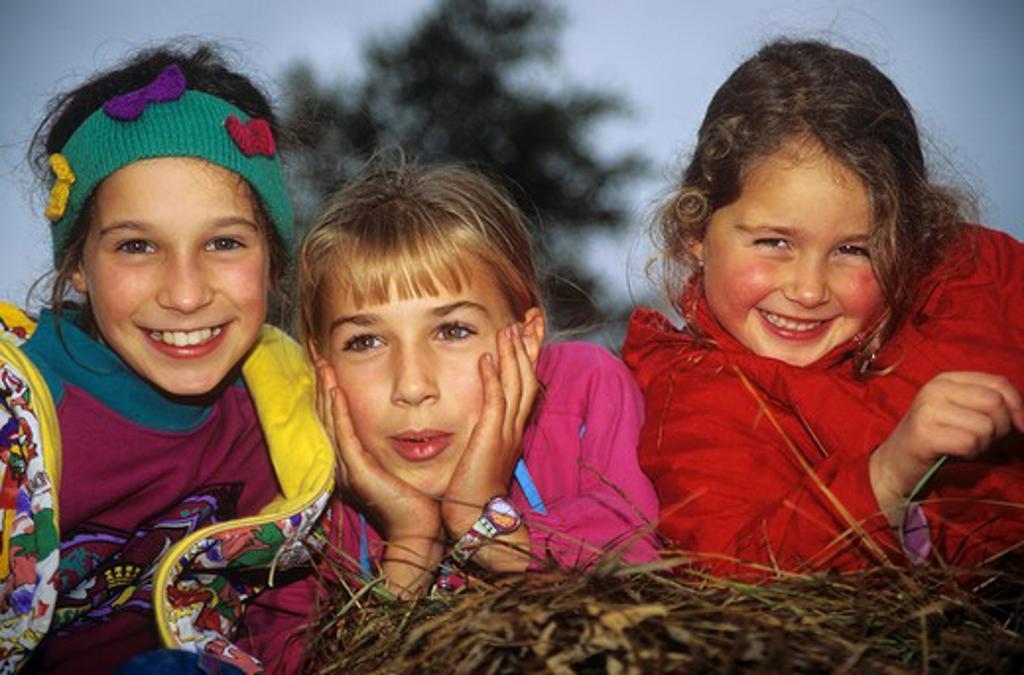 Stock Photo: 4279R-49590 three girls