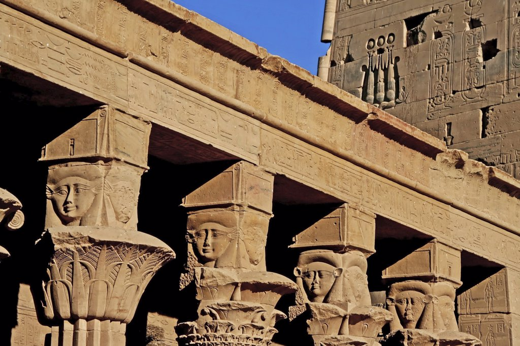 Egypt - temple of Philae : Stock Photo
