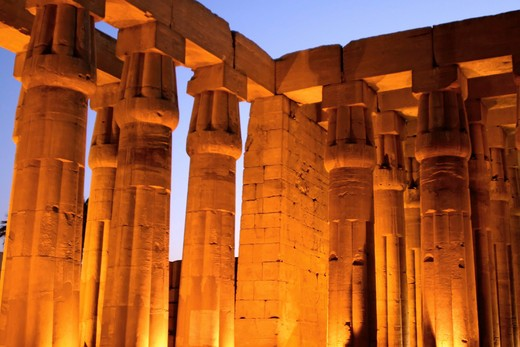 Stock Photo: 4279R-58285 Egypt - temple of Luxor