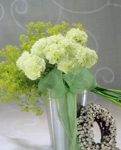 bouquet with carnations : Stock Photo