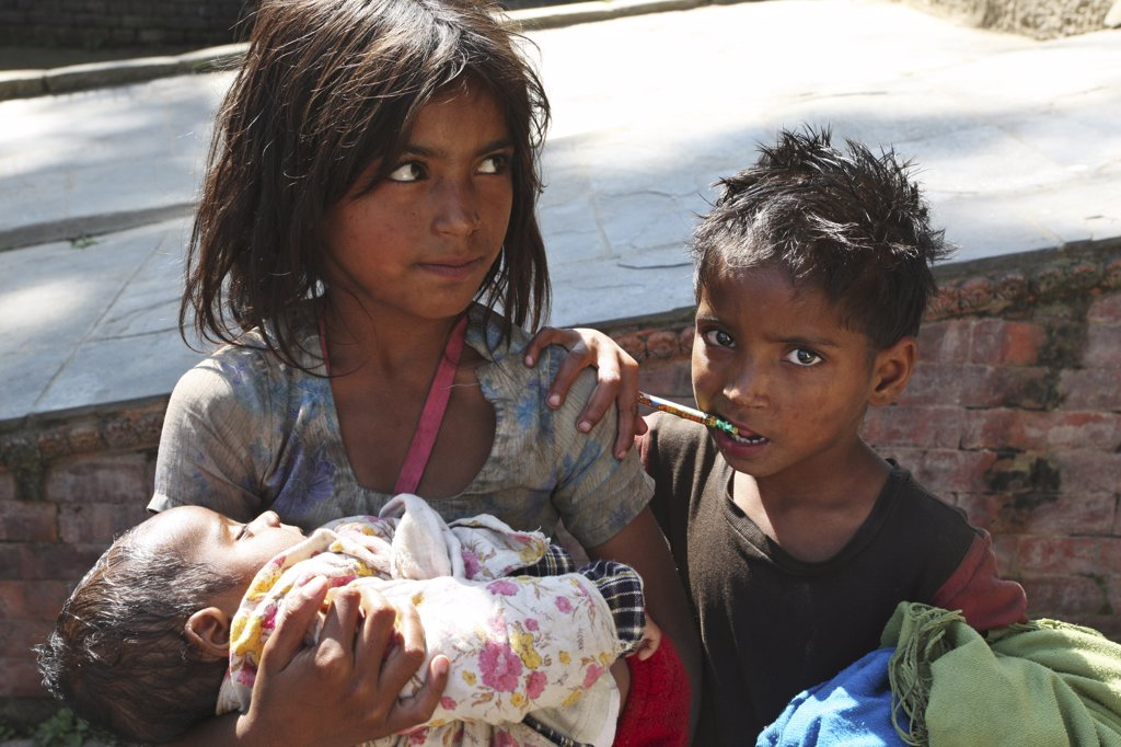 children in Kathmandu : Stock Photo