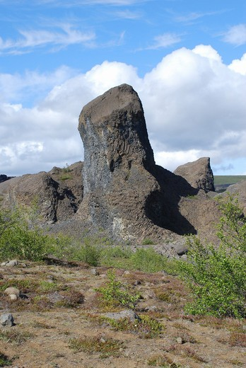 Stock Photo: 4279R-61812 Iceland - lava formations