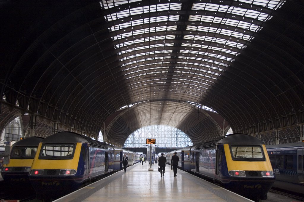 Stock Photo: 4282-10993 England, London, Paddington Station. Interior of Paddington Station.