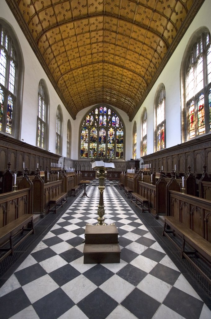England, Oxfordshire, Oxford. Interior of the chapel of Wadham College. : Stock Photo