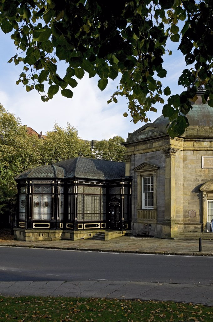 Stock Photo: 4282-15104 England, North Yorkshire, Harrogate. Royal Pump Room Museum housed in an octagonal building built in 1842 by Isaac Shutt. The museum tells the story of Harrogate as a Spa.