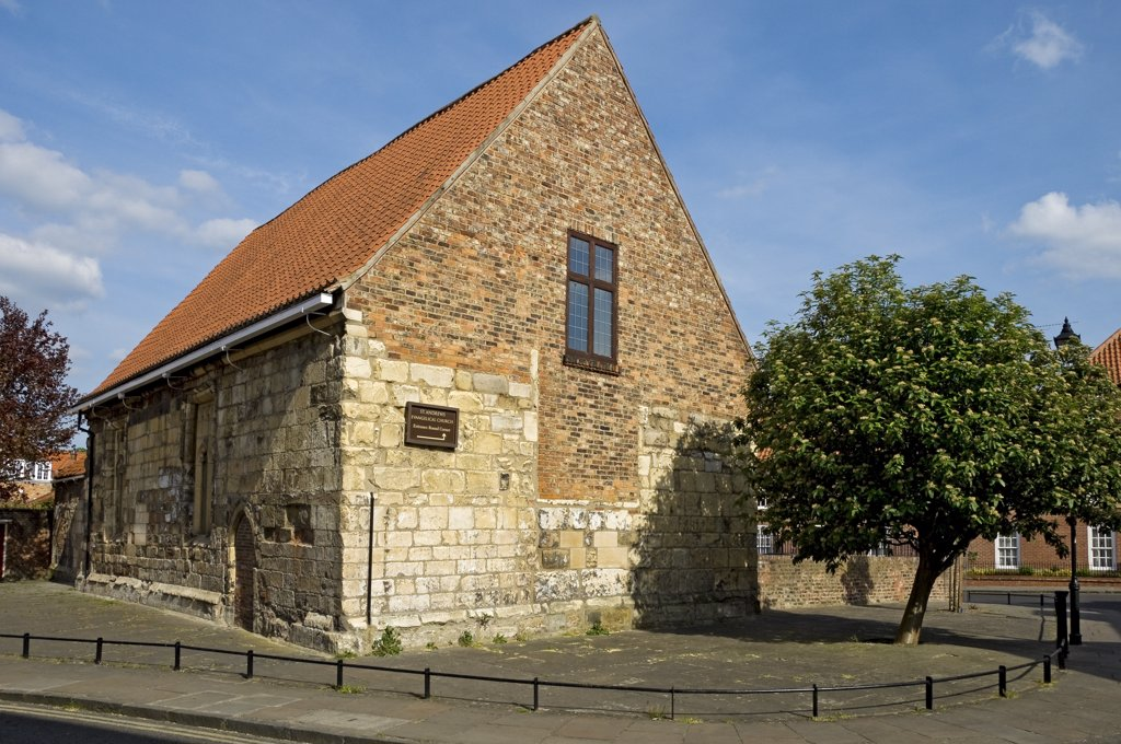 Stock Photo: 4282-15577 England, North Yorkshire, York. St Andrews Evangelical Church in Spen Lane.