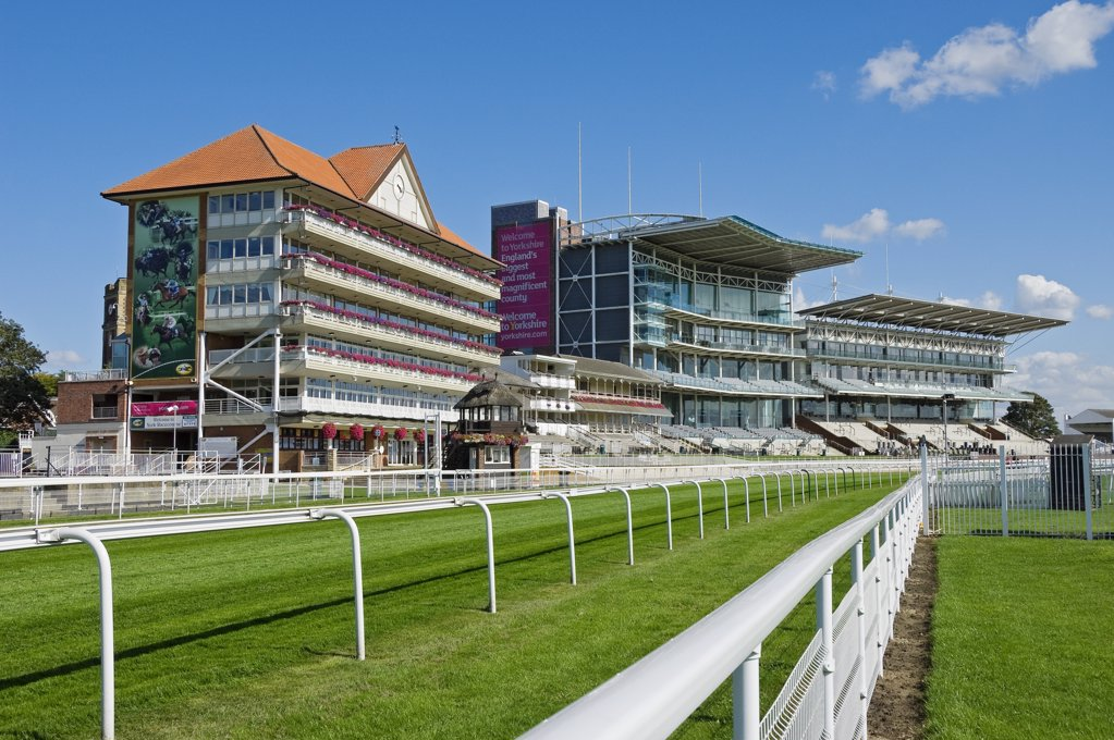 Stock Photo: 4282-15644 England, North Yorkshire, York. York Racecourse, a horse racing course situated on the Knavesmire.
